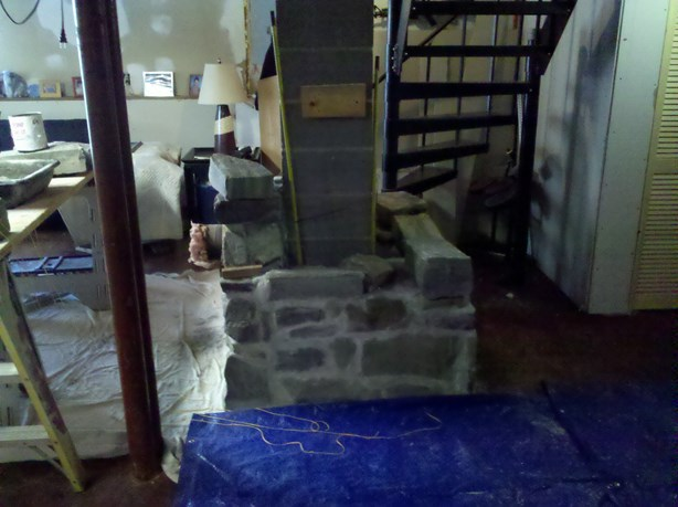 Building a woodstove chimney