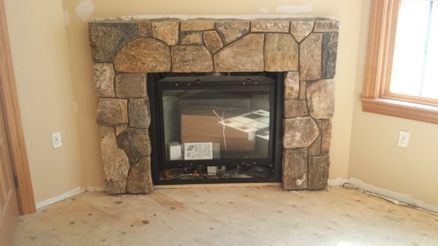 Concord ma stone fireplace