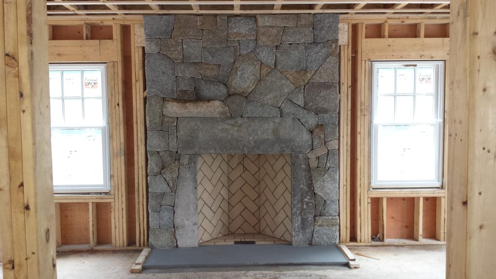 Granite rumford fireplace