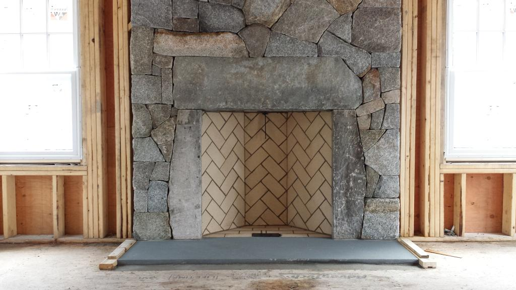 herringbone rumford fireplace