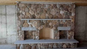 fieldstone fireplace in massachusetts