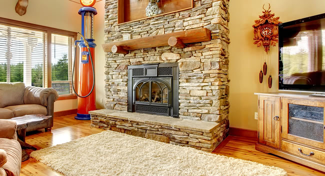 Stone Fireplace Restoration in Massachusetts
