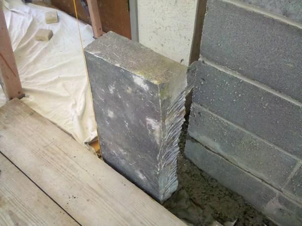 corinthian granite stone chimney