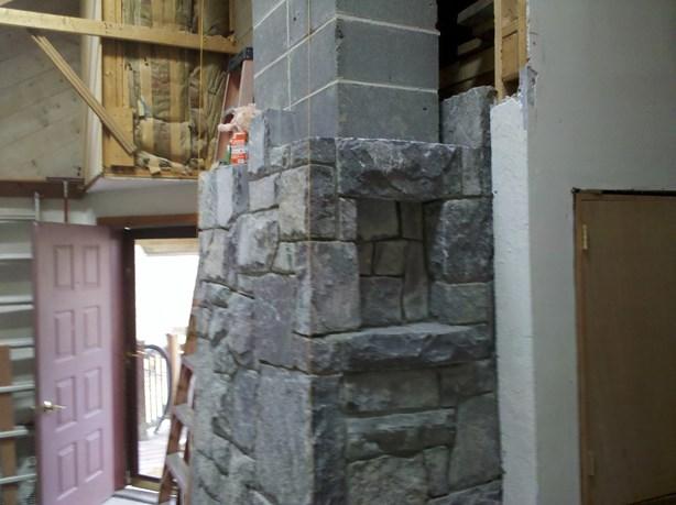 granite windows in a chimney