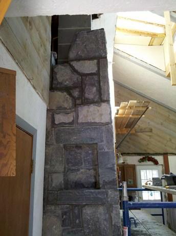 Recessed granite windows