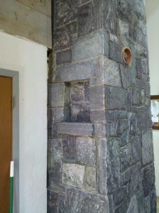 Corinthian Granite Stone Chimney