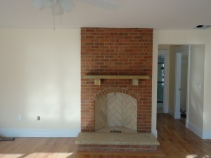 Rumford Fireplace with Glen Gery brick
