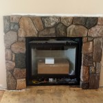 Improving a Fireplace with Thin Stone