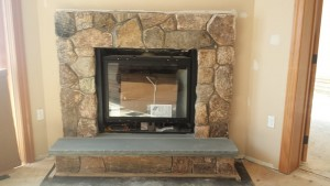 thin stone firepace