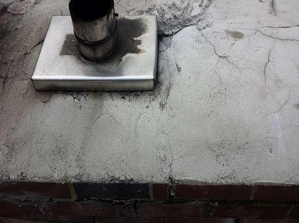 broken chimney cap