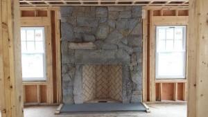 Granite rumford fireplace