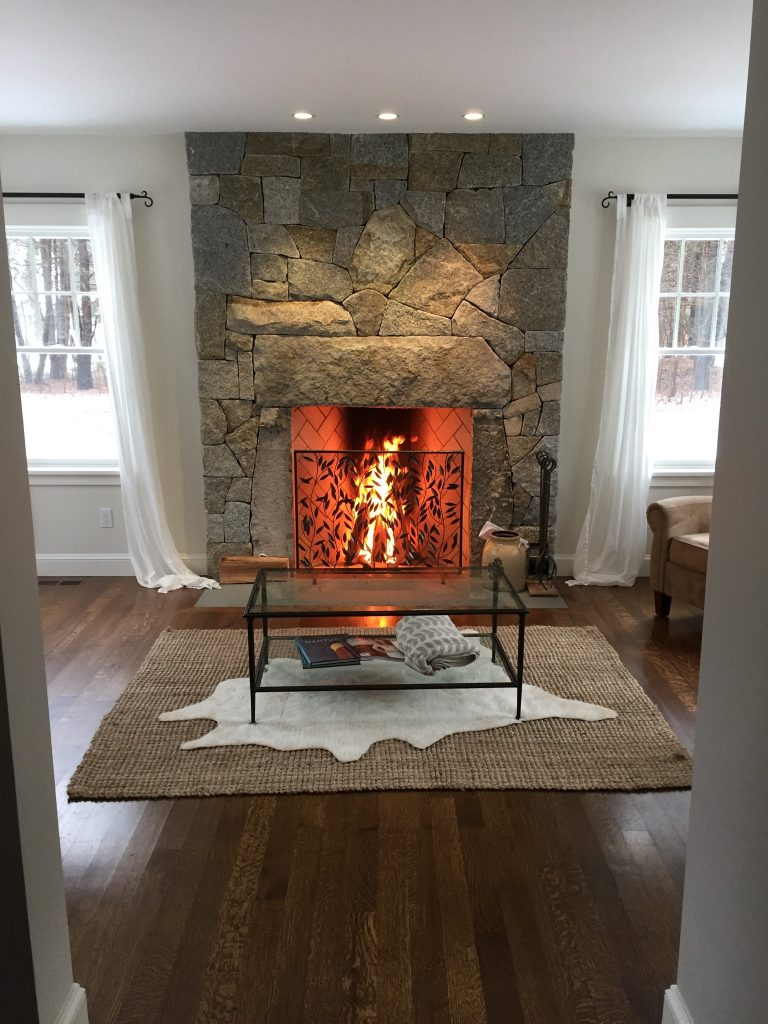 Granite Rumford Fireplace Massachusetts Masonry Company