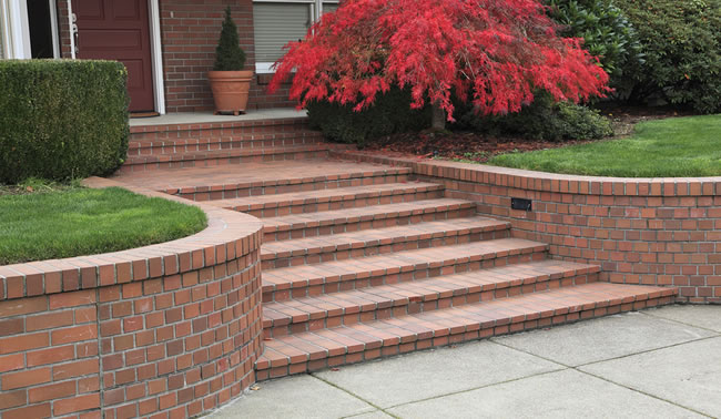 Brick Steps and Walkway Construction