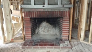 worn out fireplace