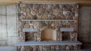 fieldstone fireplace in massachusetts
