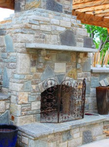 Outdoor Fireplace Construction in Massachusetts