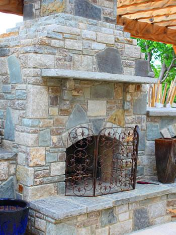 Outdoor Fireplace Construction in Massachusetts