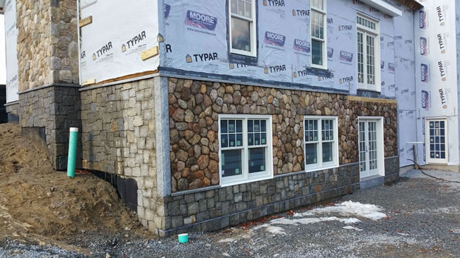 Thin stone veneer installations in massachusetts for Stone facade siding