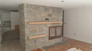 antique granite fireplace