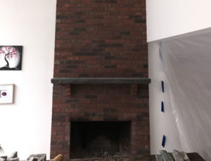Fireplace Makeover Before Photo