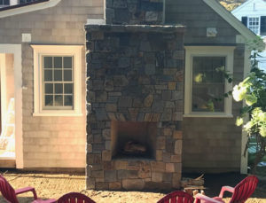 Outdoor Fireplace Construction After Photo