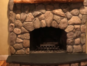 Stone Fireplace After Makeover
