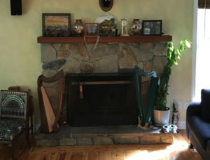 Old Stone Fireplace Before Makeover